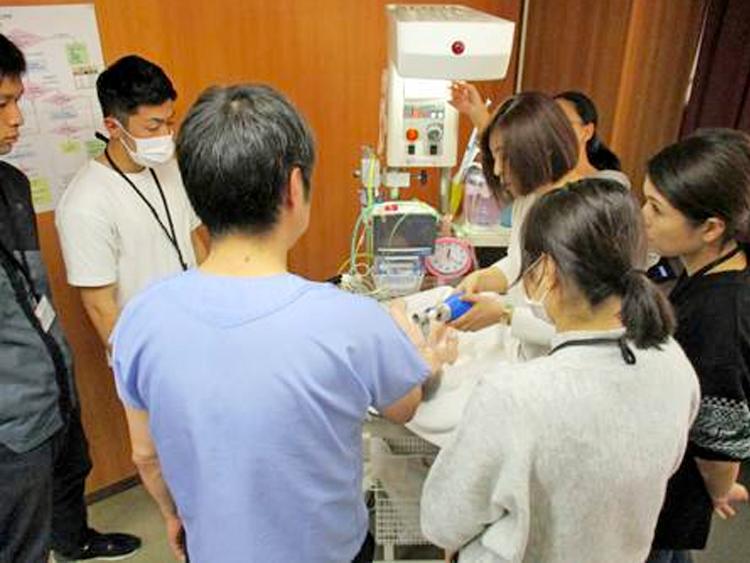 新生児蘇生法「専門」コース(Aコース)を開催(名瀬徳洲会病院)